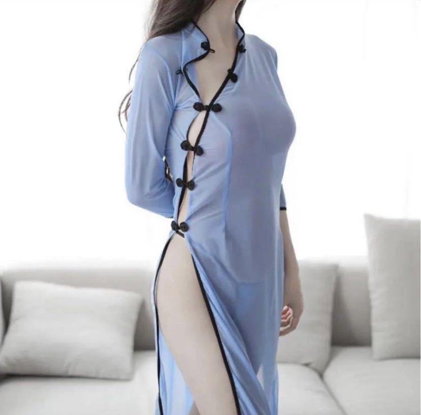 セクシーランジェリーチャイナドレス 透け感コスプレ_画像4