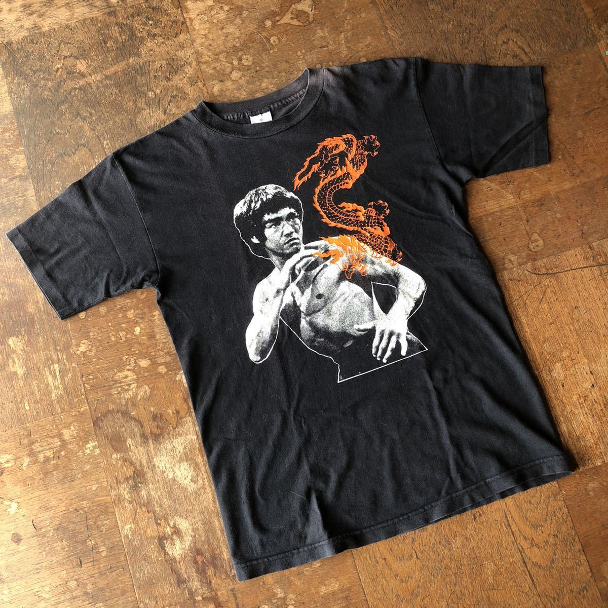 90s USA製 ビンテージ ブルース・リー Tシャツ / stussy ステューシー 黒タグ 初期 supreme リバース チャンピオン 70s 80s 90s 映画T _画像2
