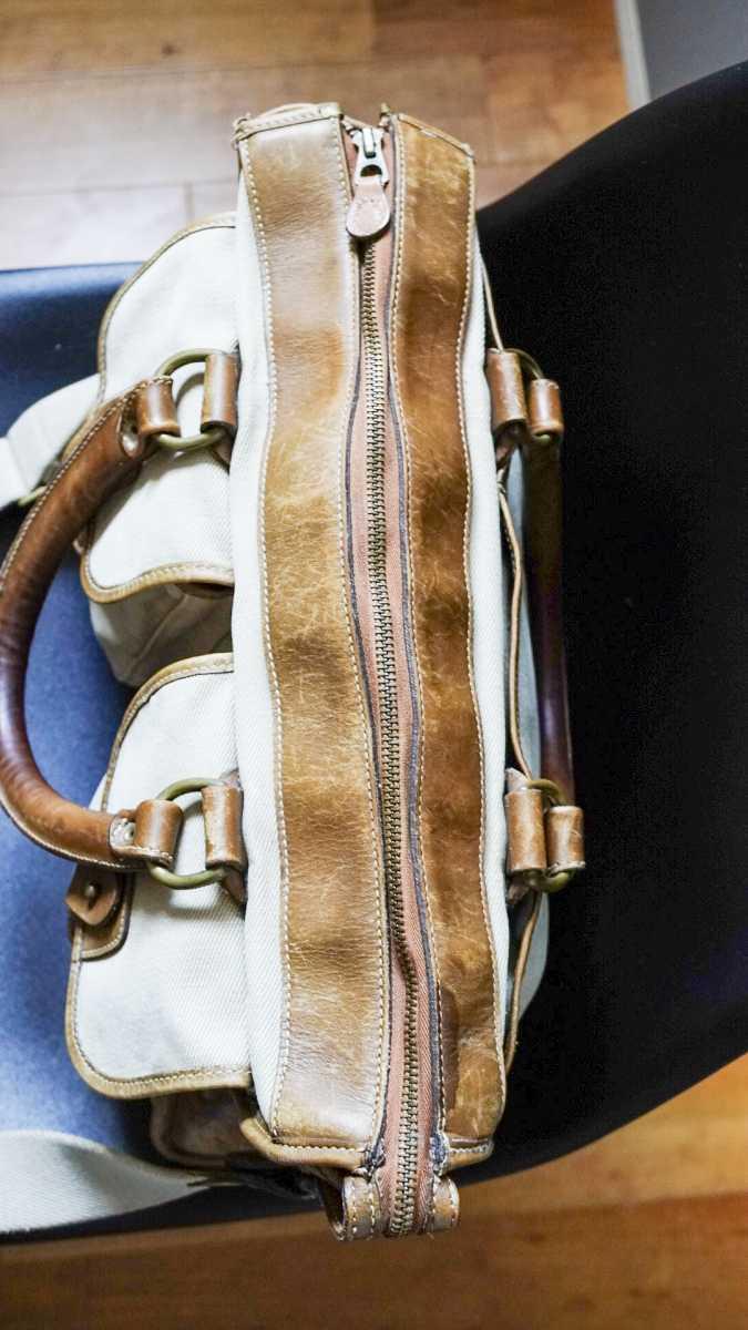GHURKA グルカ No.5 EXAMINER エグザミナー (コットンツイル × レザー) MHロゴ刻印 MARLEY HODGSON ブリーフ ヴィンテージ ビンテージ_画像9