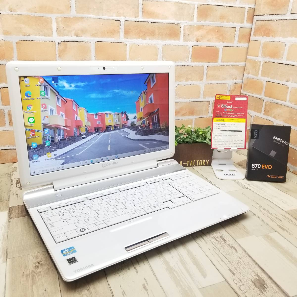 ★美品★国内正規新品SSD500GB/高性能i7(ターボ)搭載/メモリ8GB/Wi-Fi/Win10/Webカメラ/Blu-ray/Office/dynabook Qosmio T751/T8DW(C8993)