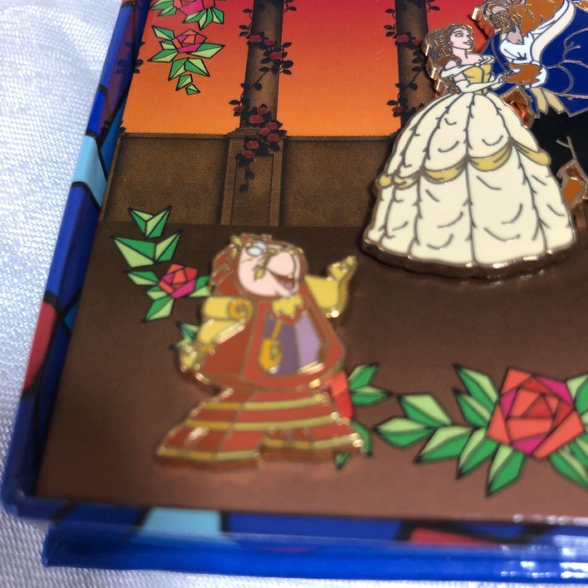 ディズニー 美女と野獣 限定940 ピンバッジボックスSET  ベル&ビースト