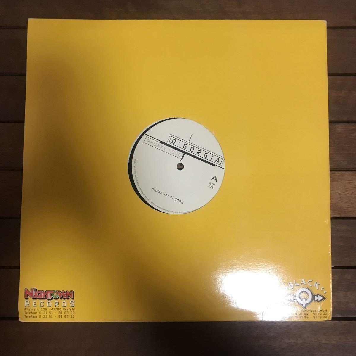 ●【eu-rap】D' Gorgia / Phunky Love [12inch]オリジナル盤 nightown レーベル