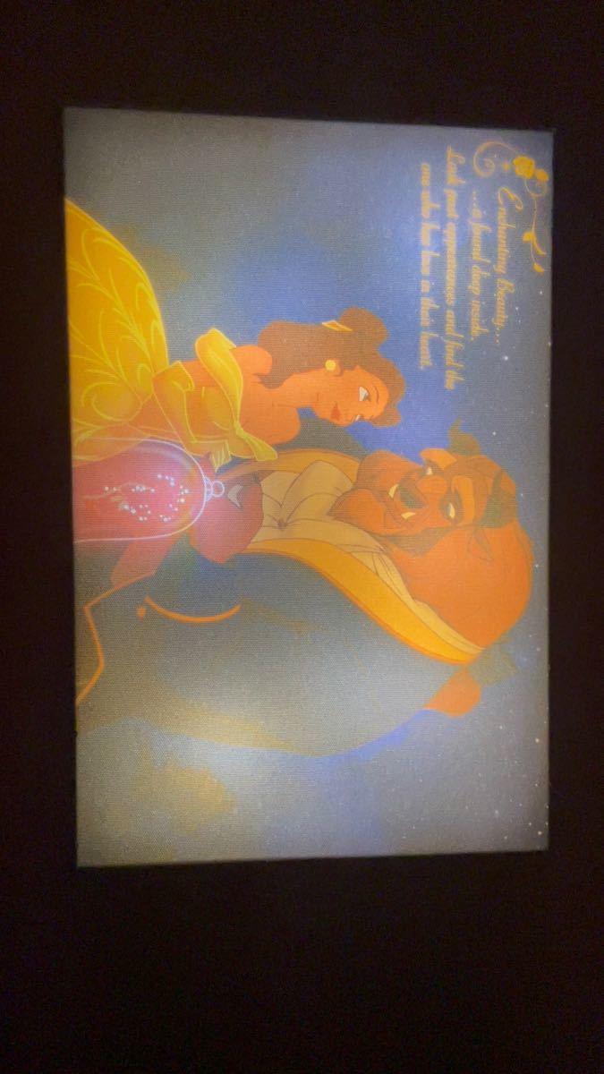 ディズニー 美女と野獣 LEDアートボード