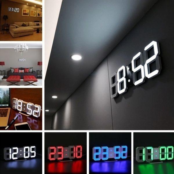 インテリア 壁掛け時計 デジタル ウォールクロック 選べる4色 LED Digital Numbers Wall Clock_画像1