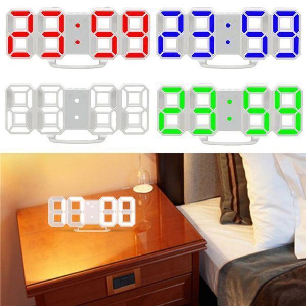 インテリア 壁掛け時計 デジタル ウォールクロック 選べる4色 LED Digital Numbers Wall Clock_画像5