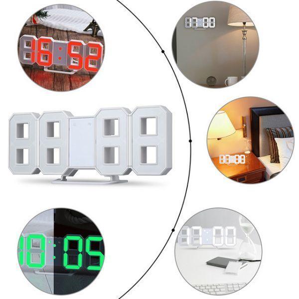 インテリア 壁掛け時計 デジタル ウォールクロック 選べる4色 LED Digital Numbers Wall Clock_画像6