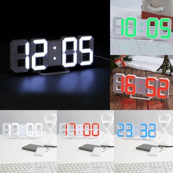 インテリア 壁掛け時計 デジタル ウォールクロック 選べる4色 LED Digital Numbers Wall Clock_画像2