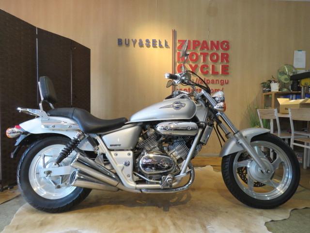 「□HONDA V-TWIN MAGNA 250 MC29 ホンダ Vツィン マグナ250 250cc 18838km シルバー 実動! バイク 札幌発」の画像1