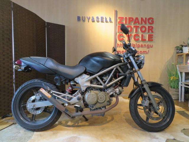 「□ HONDA VTR250 MC33 ホンダ 24399km ブラック 250cc 実動! バイク 札幌発」の画像1