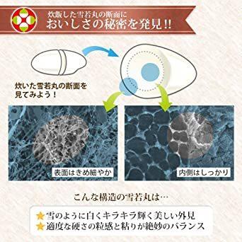 10kg 【精米 無洗米】 雪若丸 10kg (5kgx2袋) 山形県産 新米 令和2年産_画像5