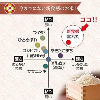 10kg 【精米 無洗米】 雪若丸 10kg (5kgx2袋) 山形県産 新米 令和2年産_画像6