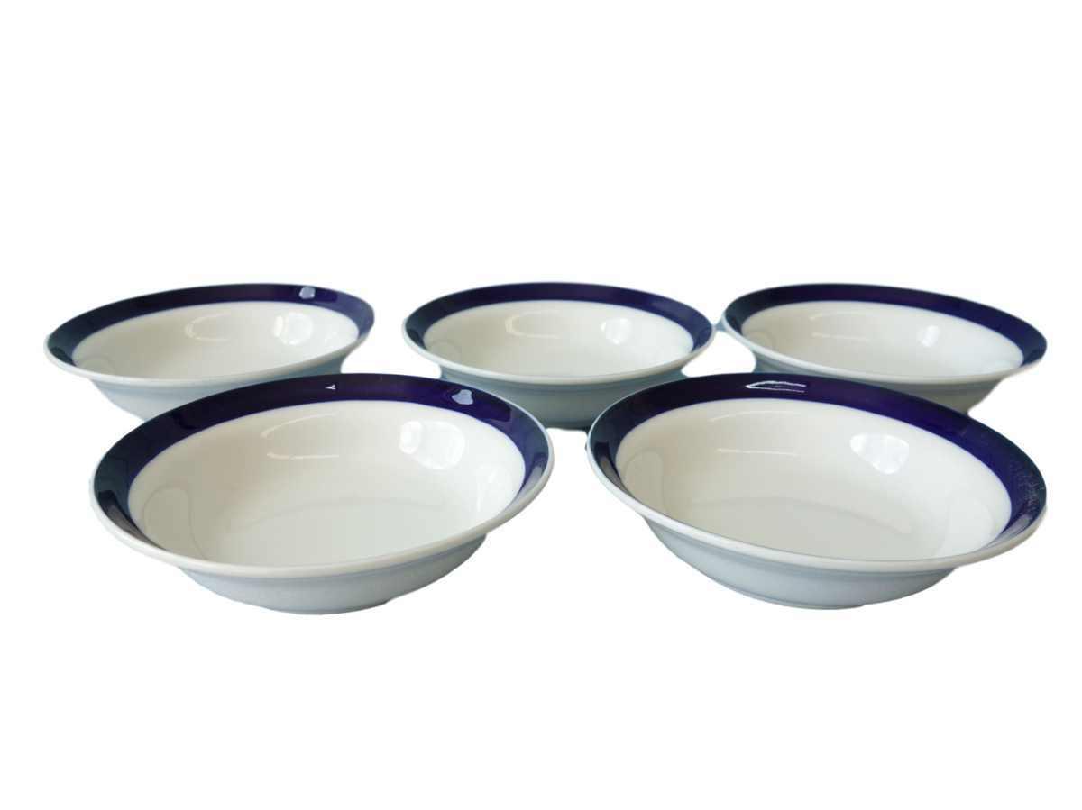 ラズワルド 14cm ボウル 5個セット 小鉢 小さい 青 浅め おしゃれ サラダ レンジ可 食洗器対応 かわいい おすすめ 通販 人気 日本製 北欧_画像1