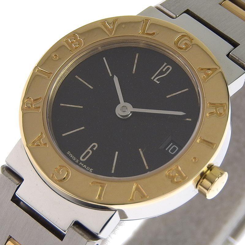 ブルガリ BVLGARI 時計 ブルガリブルガリ レディース クォーツ 腕時計 SS YG ブラック文字盤 BB23SG 中古 新入荷 BV0115_画像3