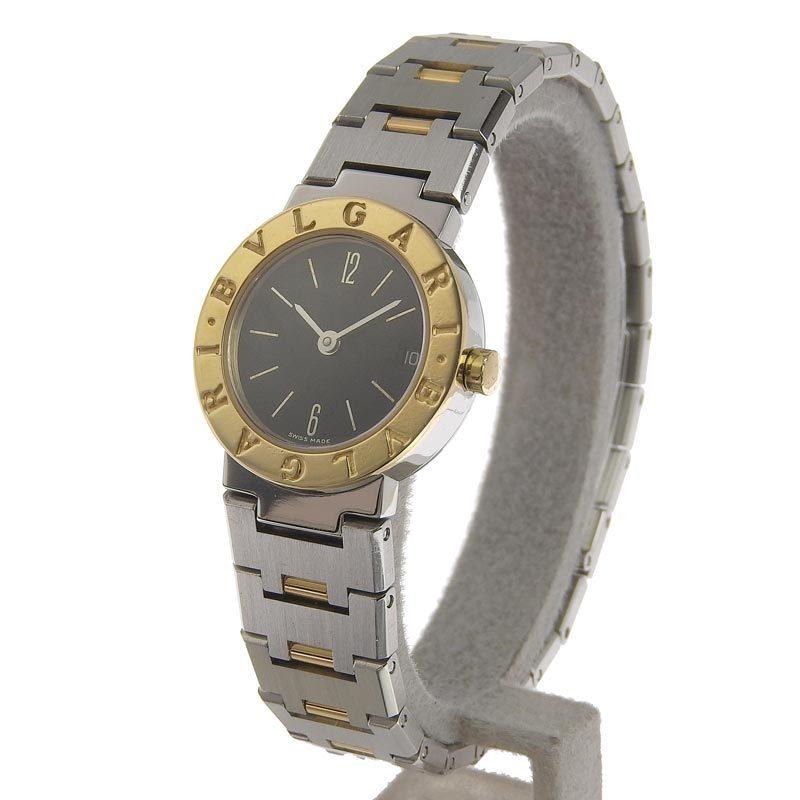 ブルガリ BVLGARI 時計 ブルガリブルガリ レディース クォーツ 腕時計 SS YG ブラック文字盤 BB23SG 中古 新入荷 BV0115_画像2