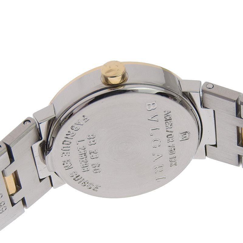 ブルガリ BVLGARI 時計 ブルガリブルガリ レディース クォーツ 腕時計 SS YG ブラック文字盤 BB23SG 中古 新入荷 BV0115_画像4