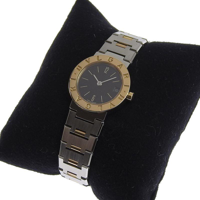 ブルガリ BVLGARI 時計 ブルガリブルガリ レディース クォーツ 腕時計 SS YG ブラック文字盤 BB23SG 中古 新入荷 BV0115_画像7