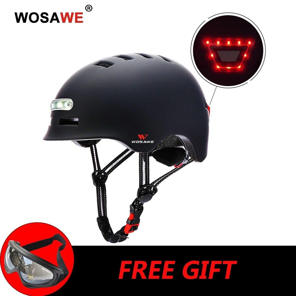 新品 ヘルメット tailligh ヘッドライトUSB 充電式信号警告 安全 電動 ヘルメット ml 黒 バイク 保護 アクセサリー_画像2