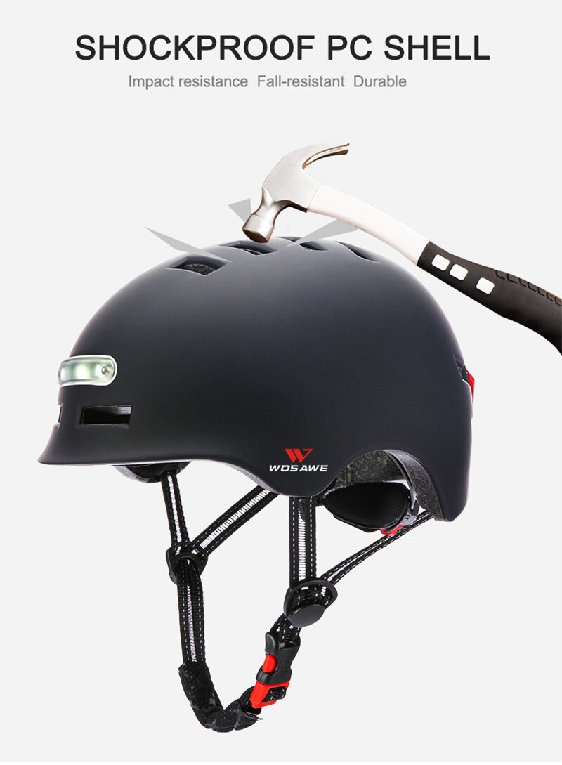 新品 ヘルメット tailligh ヘッドライトUSB 充電式信号警告 安全 電動 ヘルメット ml 白 バイク 保護 アクセサリー_画像6