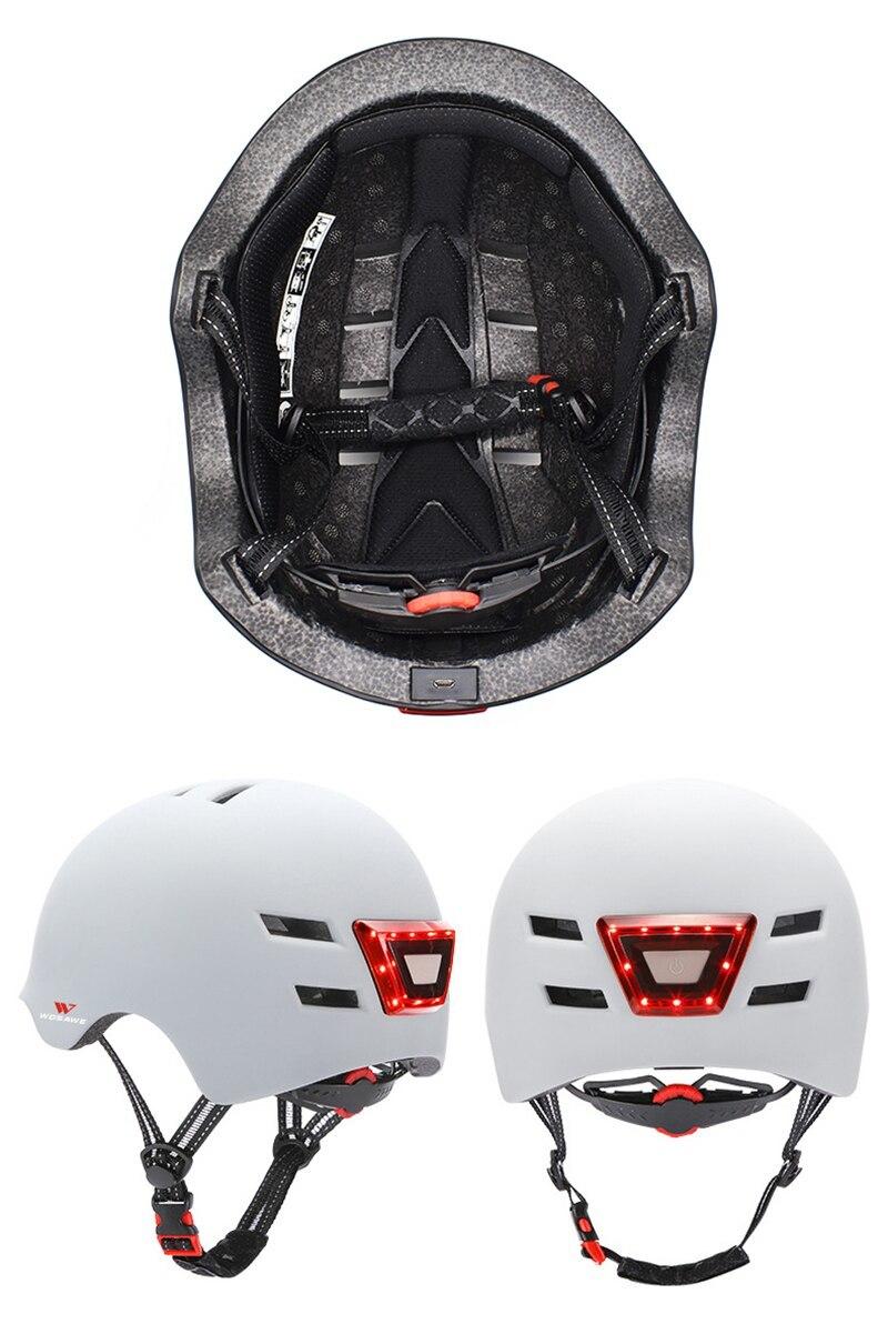 新品 ヘルメット tailligh ヘッドライトUSB 充電式信号警告 安全 電動 ヘルメット ml 黒 バイク 保護 アクセサリー_画像4