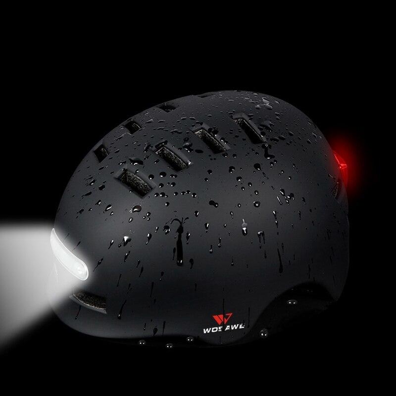 新品 ヘルメット tailligh ヘッドライトUSB 充電式信号警告 安全 電動 ヘルメット ml 白 バイク 保護 アクセサリー_画像3