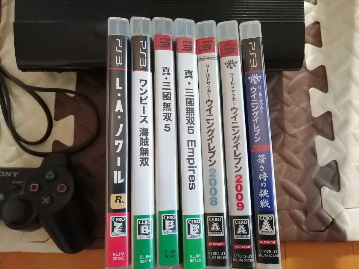 美品 ワンオーナー PS3 PlayStation3 本体 CECH-4300c コントローラー 接続ケーブル 500GB 動作確認済 ソフト7本付