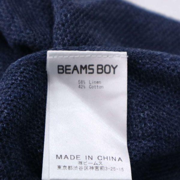 【新品 未使用】 BEAMS BOY ビームス ボーイ 変形♪ 半袖 ゆったり セーラー リネン ニット カットソー Sz.F レディース D1T01046_7#J_画像7