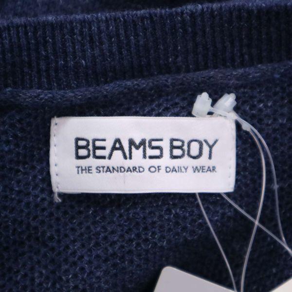 【新品 未使用】 BEAMS BOY ビームス ボーイ 変形♪ 半袖 ゆったり セーラー リネン ニット カットソー Sz.F レディース D1T01046_7#J_画像6
