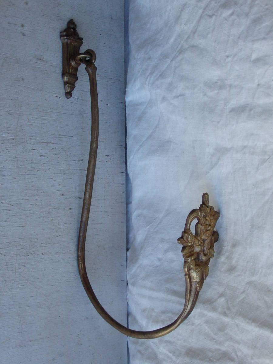 フランスアンティーク カーテンフック カーテンホルダー ブロンズ 青銅 蚤の市 ブロカント レリーフ ゴールド 1880年 19世紀 仏国_画像10