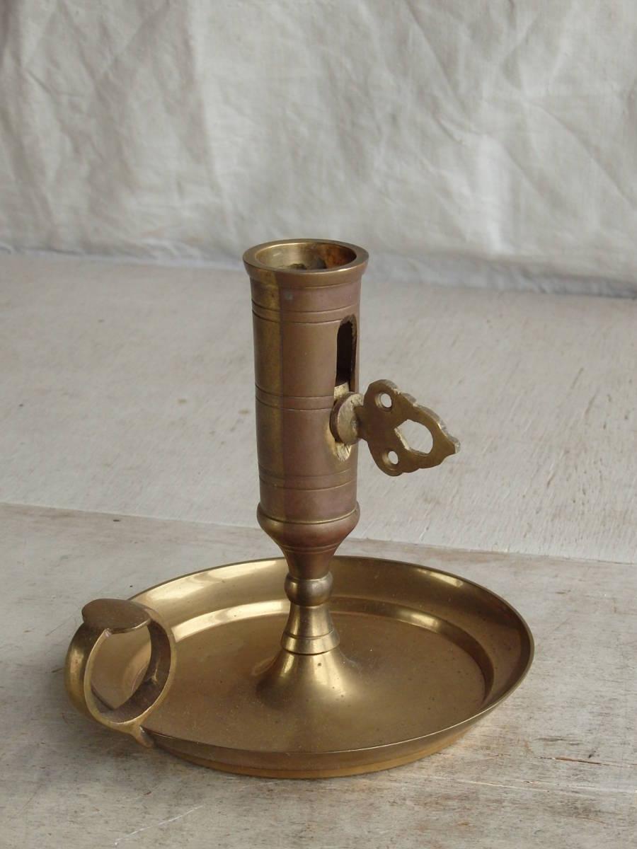 フランスアンティーク キャンドルスタンド 燭台 蚤の市 ブロカント ゴールド インテリア ディスプレイ 飾り 上下 真鍮_画像2
