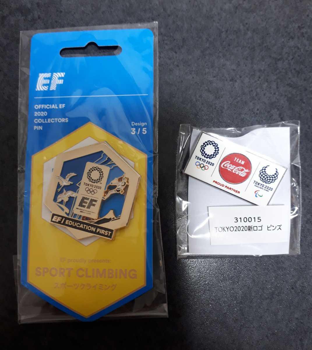 東京 オリンピック ピンバッジ ピンバッチ 2020 クライミング EF コカ・コーラ ピンズ 未使用