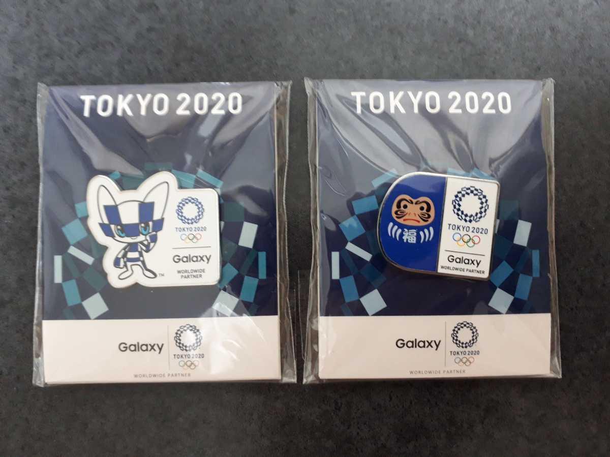 東京オリンピック ピンバッチ ピンバッジ 2020 Galaxy ミライトワ ダルマ ピンズ 未使用