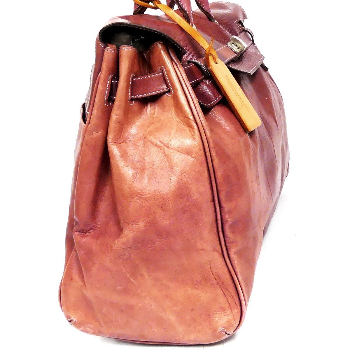 即決★aniary★レザーハンドバッグ アニアリ メンズ 赤 紫 本革 トートバッグ 本皮 かばん 鞄 レディース 手提げバッグ_画像4