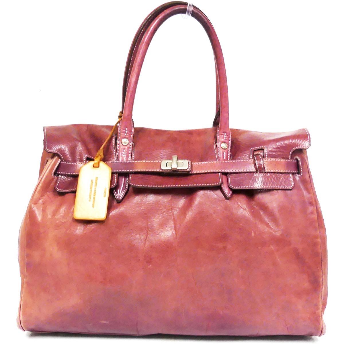 即決★aniary★レザーハンドバッグ アニアリ メンズ 赤 紫 本革 トートバッグ 本皮 かばん 鞄 レディース 手提げバッグ_画像2