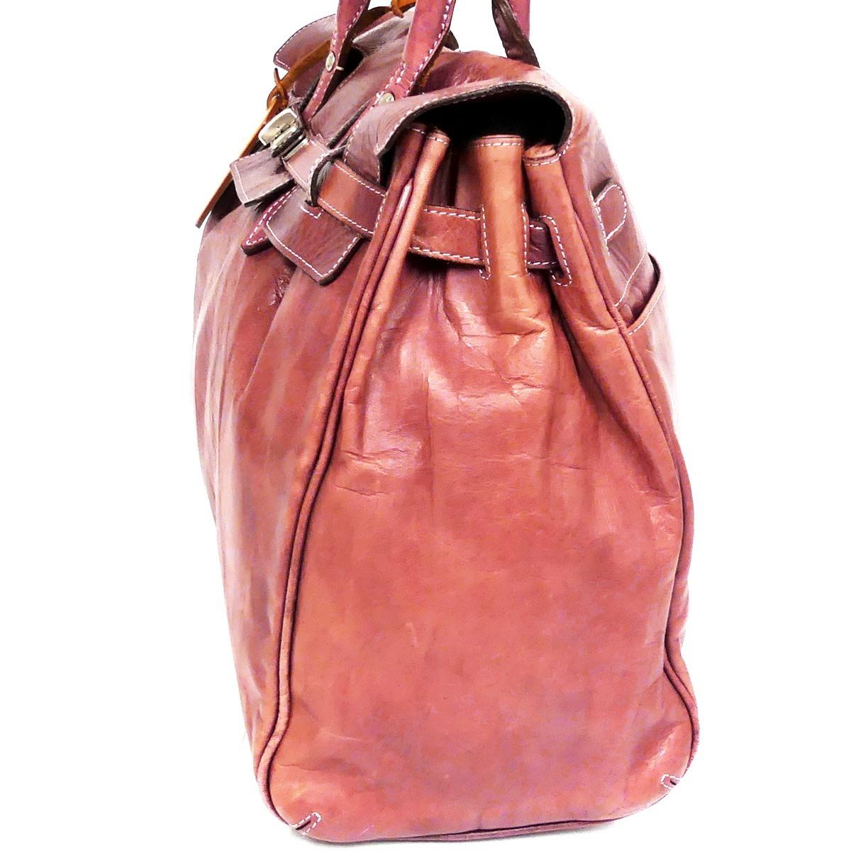 即決★aniary★レザーハンドバッグ アニアリ メンズ 赤 紫 本革 トートバッグ 本皮 かばん 鞄 レディース 手提げバッグ_画像5