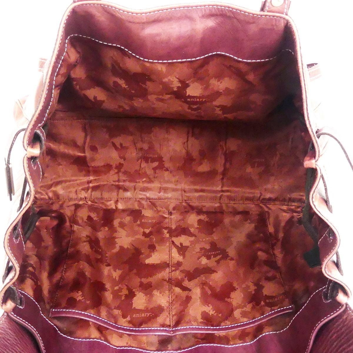 即決★aniary★レザーハンドバッグ アニアリ メンズ 赤 紫 本革 トートバッグ 本皮 かばん 鞄 レディース 手提げバッグ_画像8