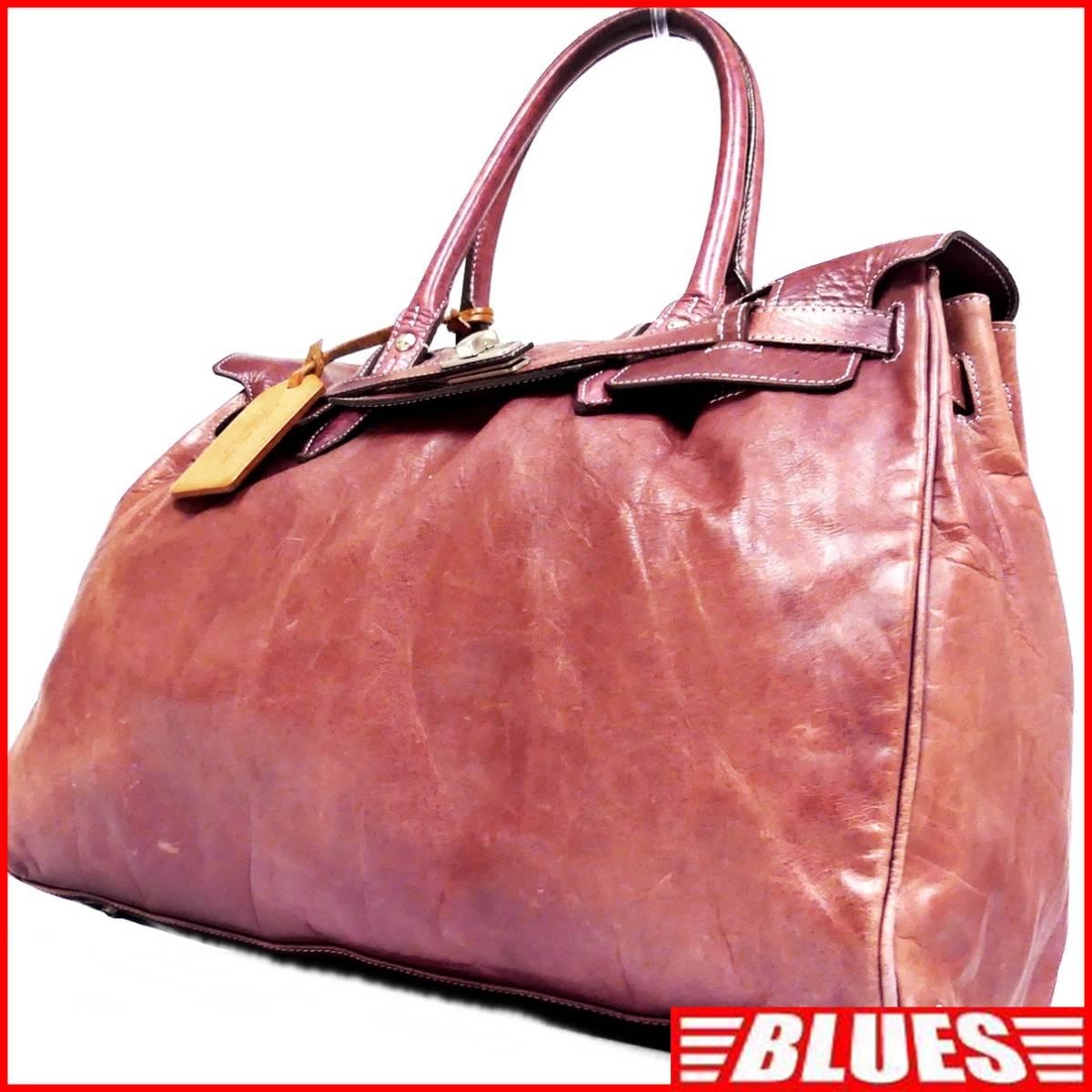 即決★aniary★レザーハンドバッグ アニアリ メンズ 赤 紫 本革 トートバッグ 本皮 かばん 鞄 レディース 手提げバッグ_画像1