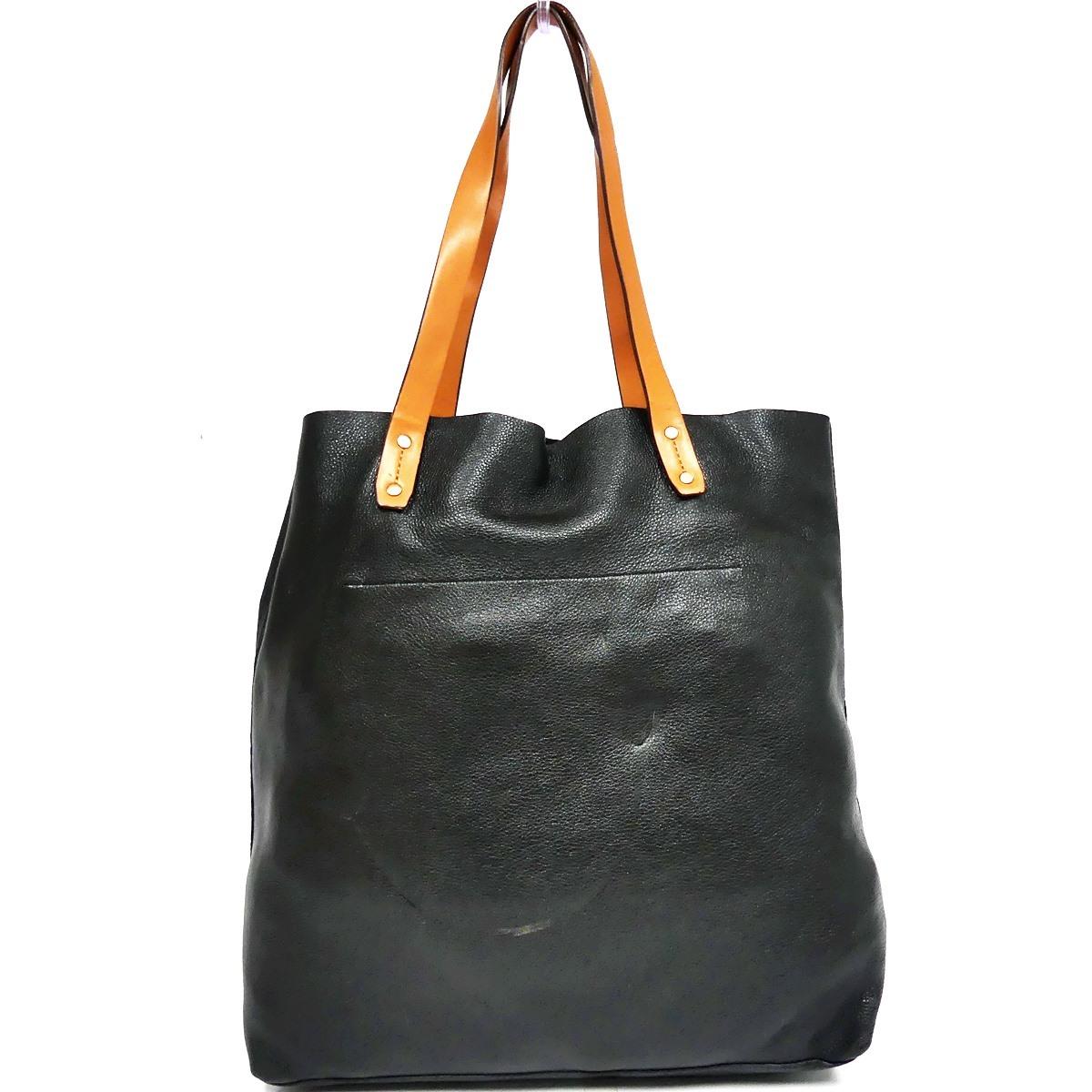 即決★GAP★オールレザートートバッグ ギャップ メンズ 黒 本革 ハンドバッグ 本皮 かばん 通勤 トラベル 出張 手提げバッグ 鞄 レディース_画像3