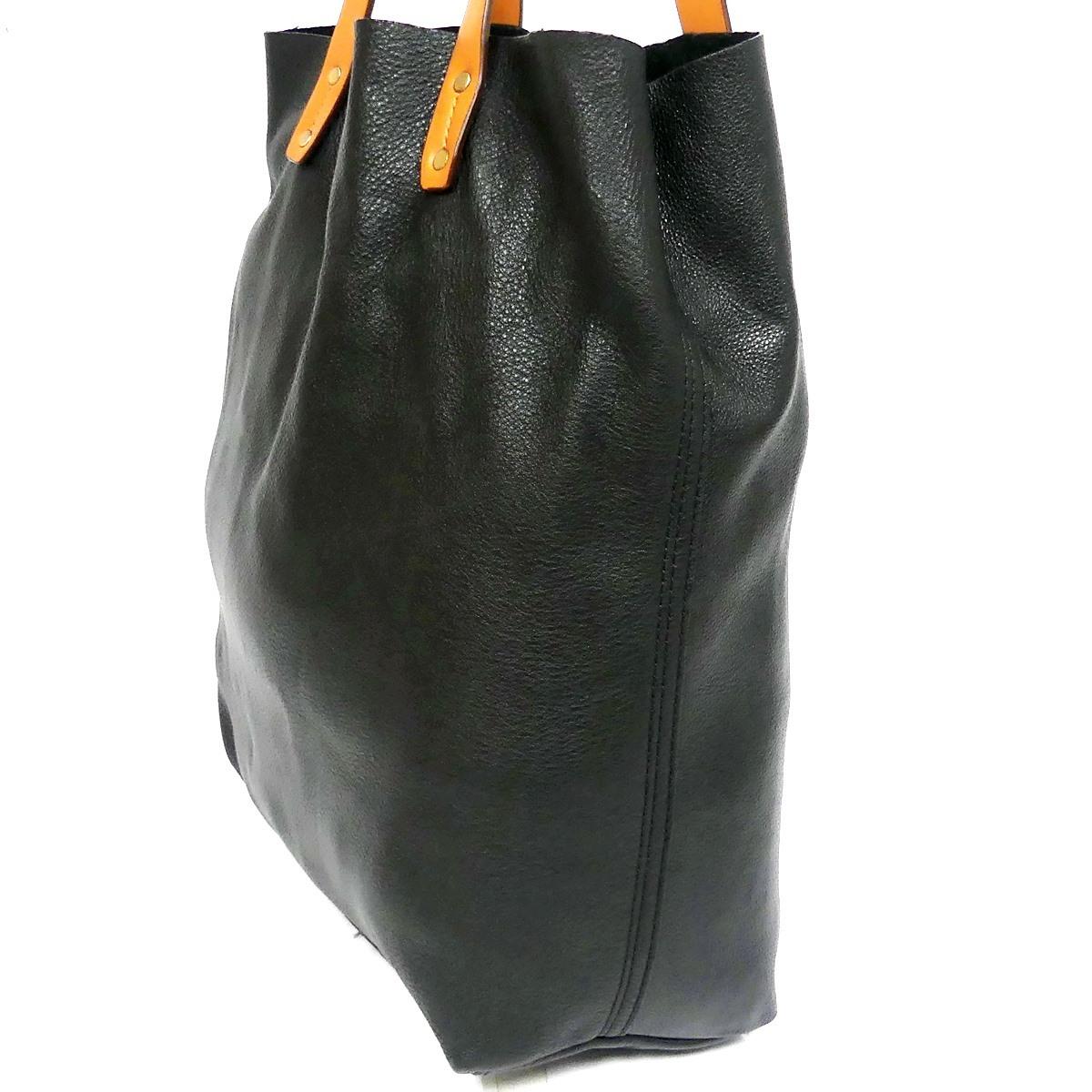 即決★GAP★オールレザートートバッグ ギャップ メンズ 黒 本革 ハンドバッグ 本皮 かばん 通勤 トラベル 出張 手提げバッグ 鞄 レディース_画像5