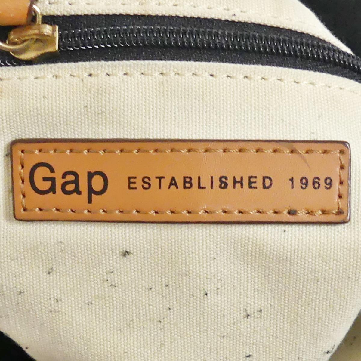即決★GAP★オールレザートートバッグ ギャップ メンズ 黒 本革 ハンドバッグ 本皮 かばん 通勤 トラベル 出張 手提げバッグ 鞄 レディース_画像9