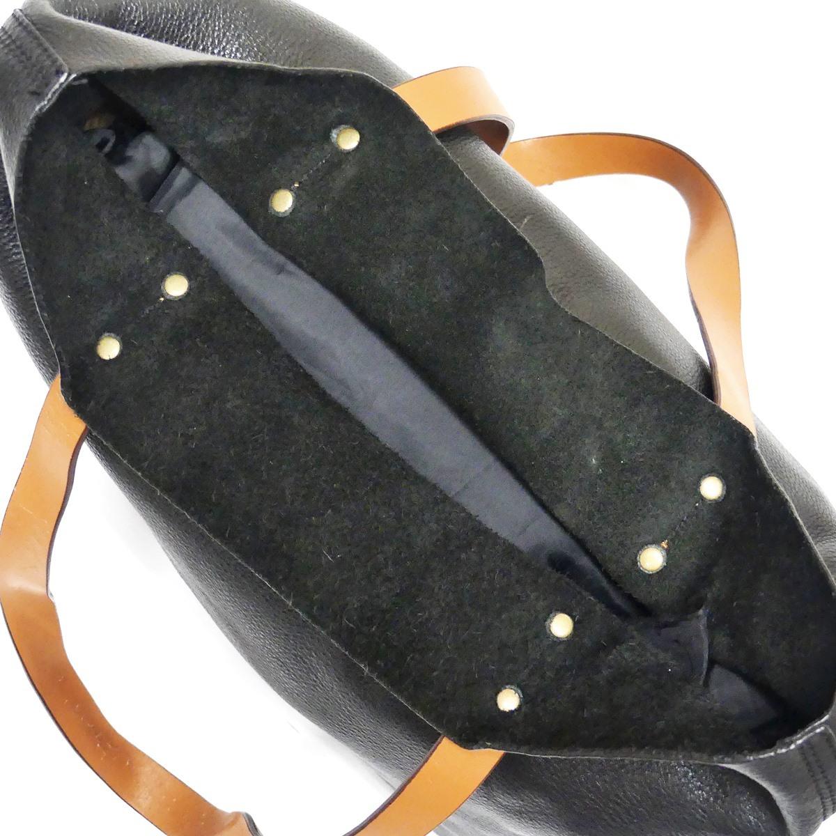 即決★GAP★オールレザートートバッグ ギャップ メンズ 黒 本革 ハンドバッグ 本皮 かばん 通勤 トラベル 出張 手提げバッグ 鞄 レディース_画像7