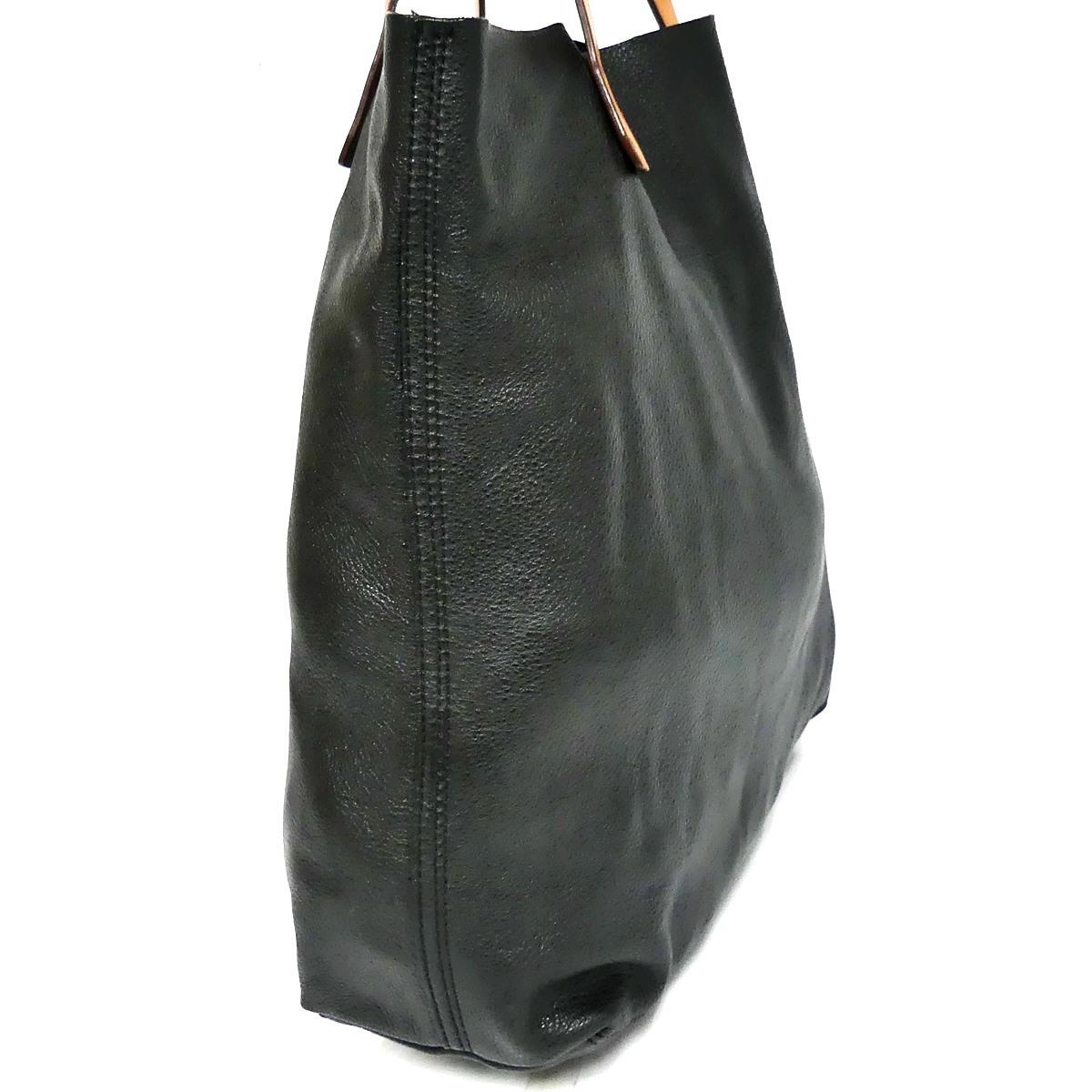 即決★GAP★オールレザートートバッグ ギャップ メンズ 黒 本革 ハンドバッグ 本皮 かばん 通勤 トラベル 出張 手提げバッグ 鞄 レディース_画像4