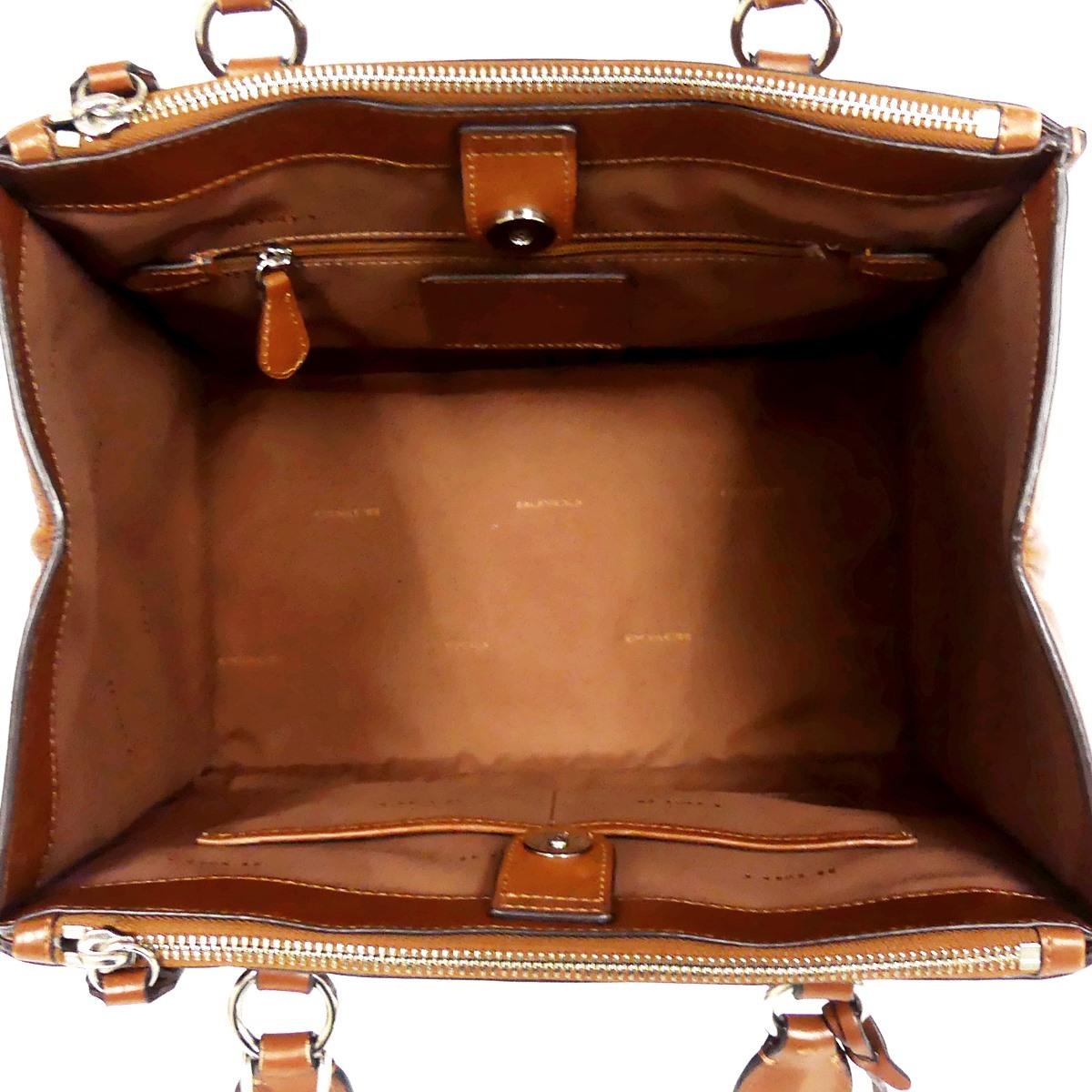 即決★COACH★レザーハンドバッグ オールドコーチ メンズ 茶 本革 トートバッグ 本皮 かばん 鞄 レディース ロゴプレート 手提げバッグ_画像8