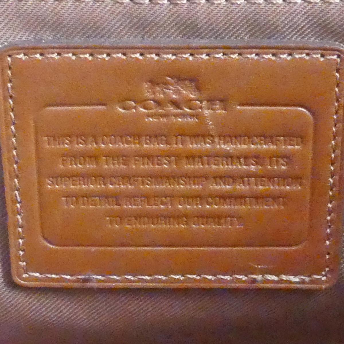 即決★COACH★レザーハンドバッグ オールドコーチ メンズ 茶 本革 トートバッグ 本皮 かばん 鞄 レディース ロゴプレート 手提げバッグ_画像10