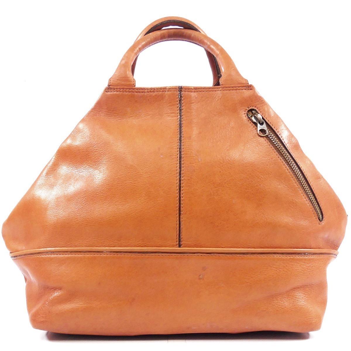 即決★EL Dolman★レザーハンドバッグ ドルマン メンズ 茶 本革 トートバッグ 本皮 かばん 鞄 レディース 手提げバッグ_画像3
