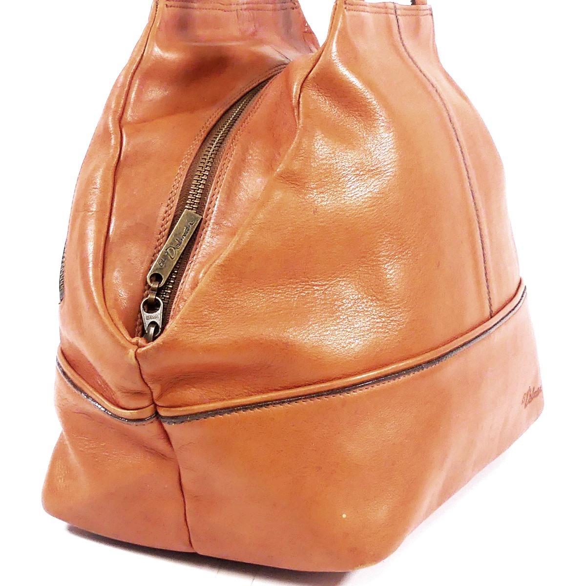 即決★EL Dolman★レザーハンドバッグ ドルマン メンズ 茶 本革 トートバッグ 本皮 かばん 鞄 レディース 手提げバッグ_画像4
