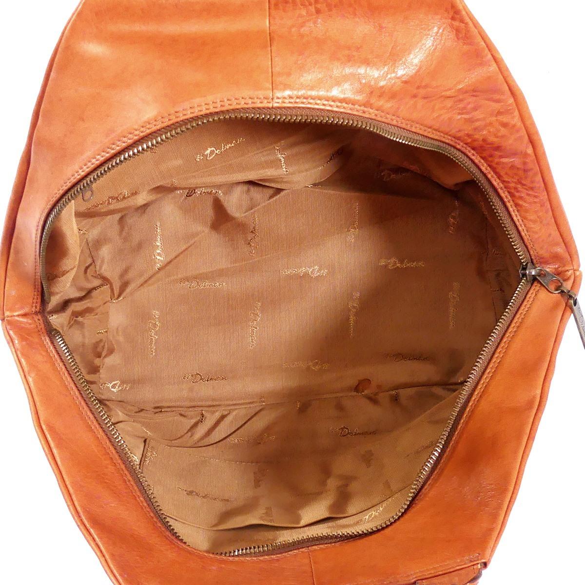 即決★EL Dolman★レザーハンドバッグ ドルマン メンズ 茶 本革 トートバッグ 本皮 かばん 鞄 レディース 手提げバッグ_画像8