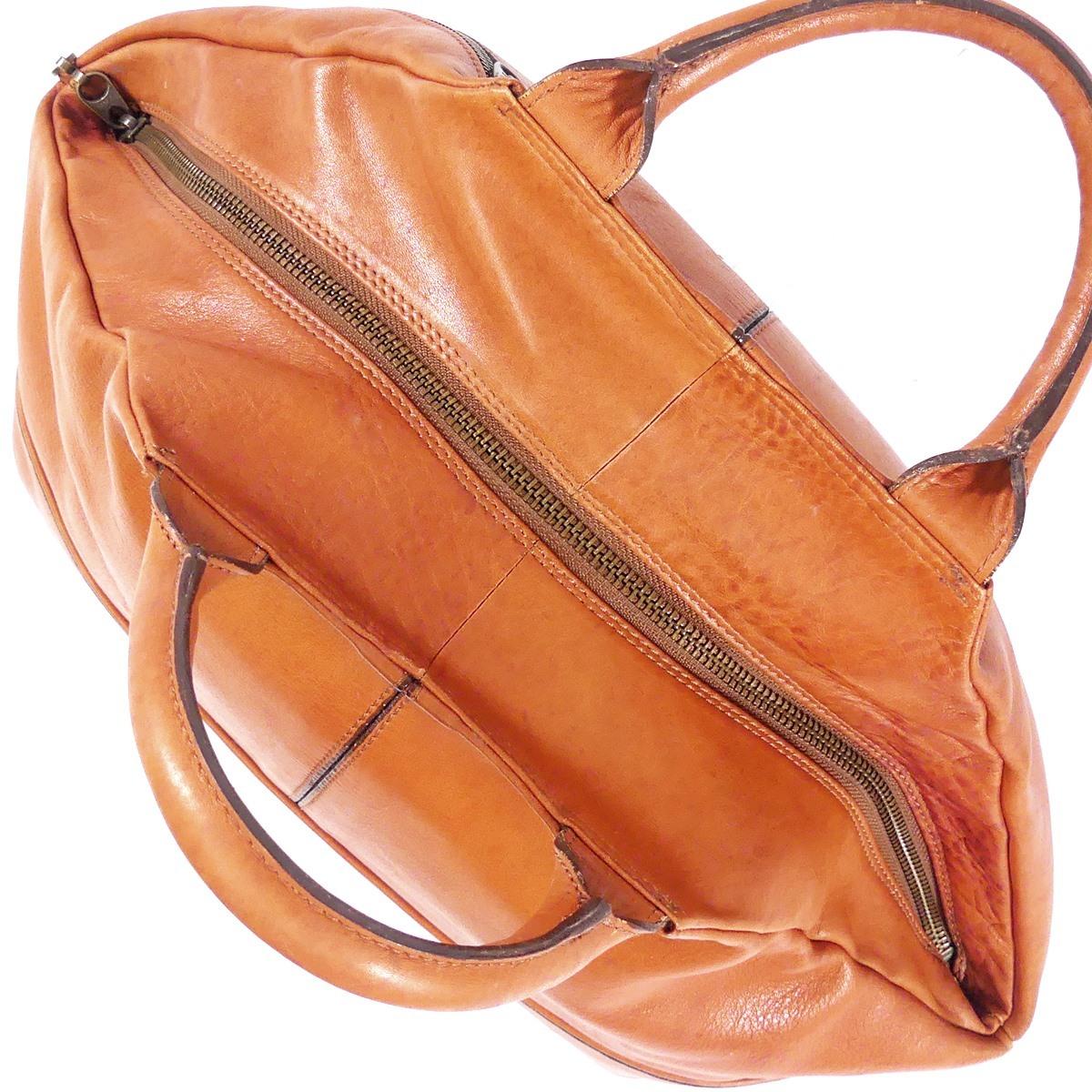 即決★EL Dolman★レザーハンドバッグ ドルマン メンズ 茶 本革 トートバッグ 本皮 かばん 鞄 レディース 手提げバッグ_画像7
