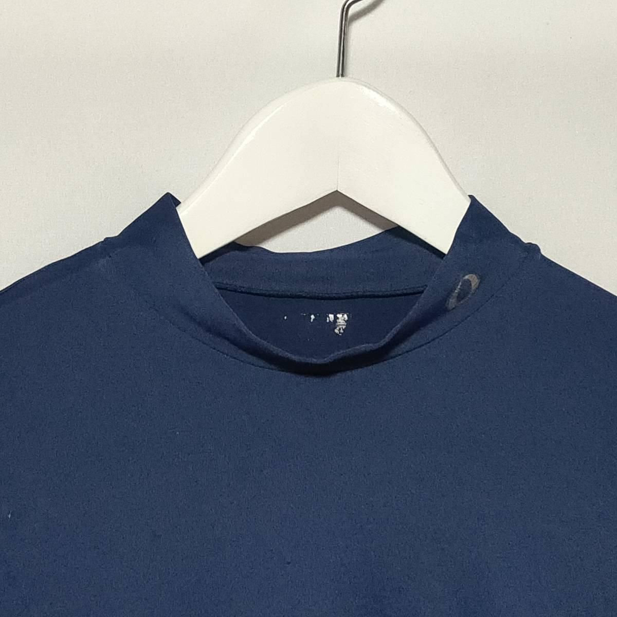 イグニオ IGNIO インナー アンダーシャツ スポーツウェア ハイネック 半袖 L 紺 ネイビー メンズ /P