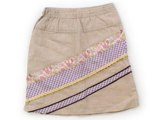 スワップミートマーケット SWAP MEET MARKET スカート 80 女の子 ベージュ・小花・チェック 子供服 ベビー服 キッズ(598432)_画像2