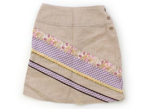 スワップミートマーケット SWAP MEET MARKET スカート 80 女の子 ベージュ・小花・チェック 子供服 ベビー服 キッズ(598432)_画像1